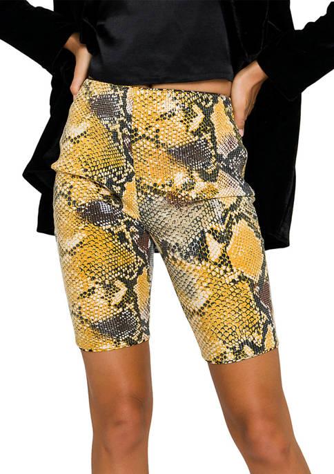 Python Sequin Biker Shorts