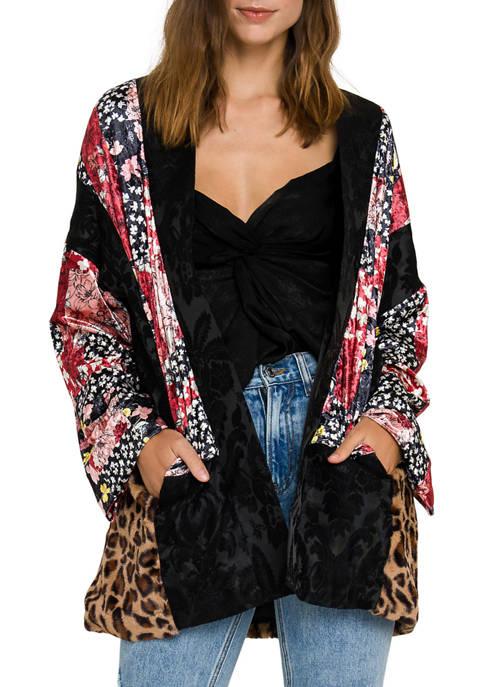 Free The Roses Patchwork Kimono Jacket