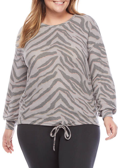 New Directions® Studio Plus Size Long Sleeve Printed