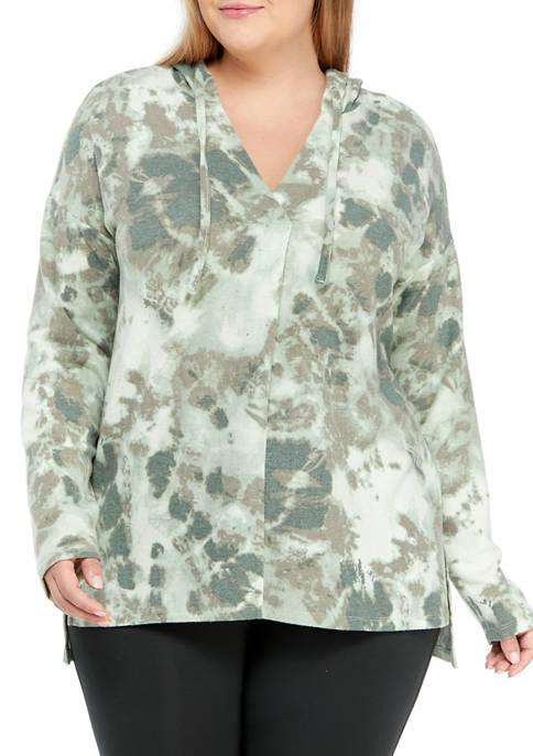 New Directions® Studio Plus Size Long Sleeve V-Neck