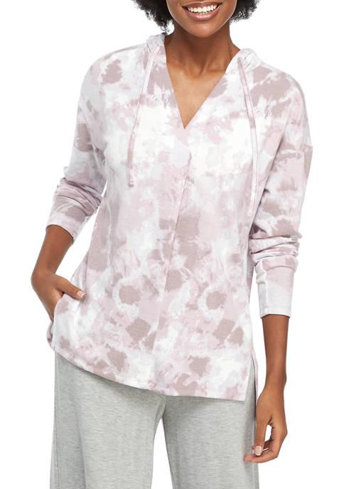 New Directions® Studio Womens Long Sleeve V-Neck Hoodie