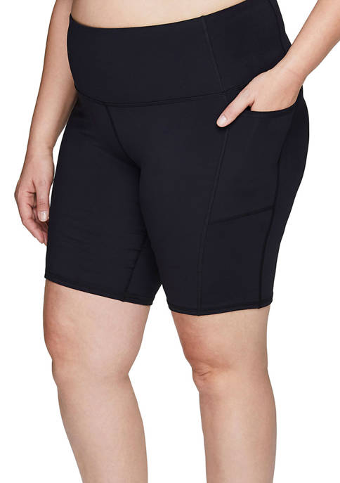 Plus Size 9 Inseam Bike Short with Cell Phone Pockets