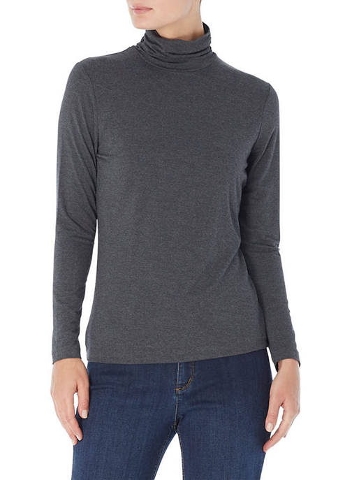 JONES NEW YORK Womens Long Sleeve Turtleneck Sweater