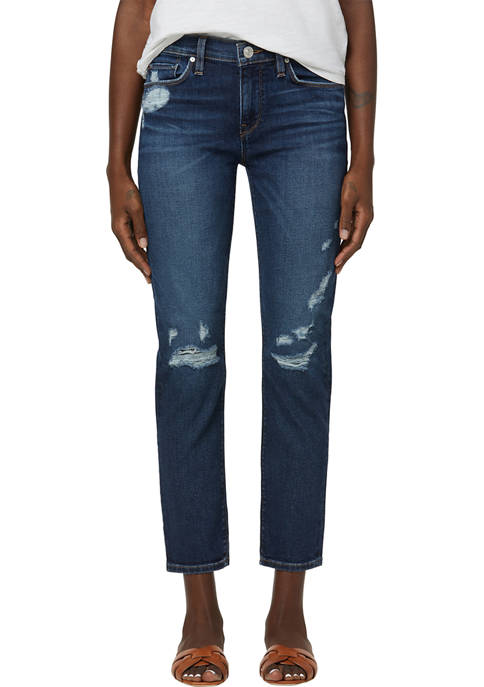 Nico Mid Rise Straight Cropped Jeans