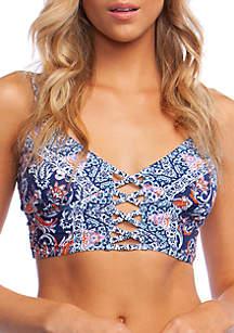 Hobie Way to Boho Strappy Midkini Swim Top