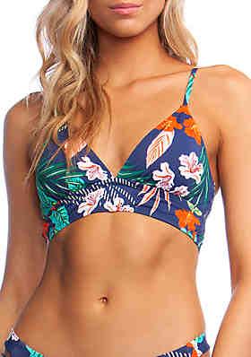 03a19446be5 Hobie Hibiscus Jungle Midkini Swim Top ...