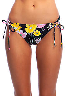 Hobie Flower Fields Full Coverage Adjustable Side Hipster Swim Bottoms