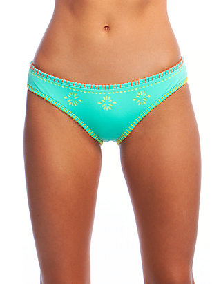 Hobie Printed Side-tab Hipster Bikini Underwear Blue Medium