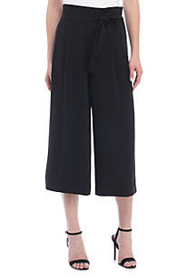 Belted Cropped Trouser