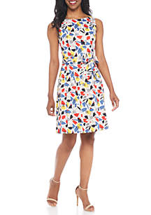 Cotton Satin Fit-and-Flare Dress