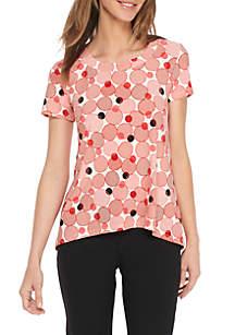 Malibu High-Low Hem Short Sleeve Shirt