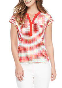 Pearly Dot Two-Pocket Short Sleeve Tee
