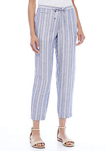 Printed Linen Drawstring Pant