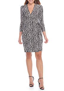 Cedarwood Printed Wrap Dress