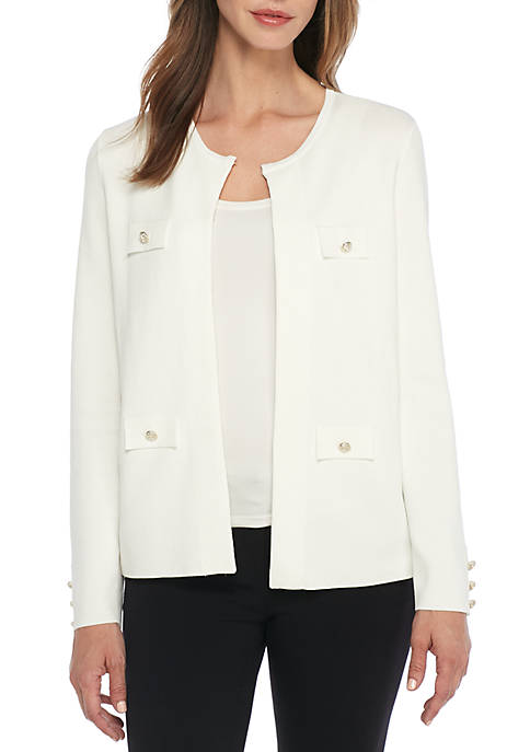 Anne Klein Cardigan with Pocket Detail