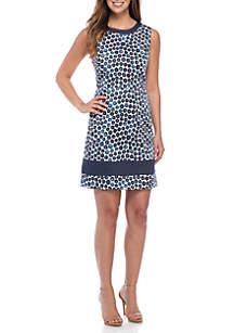 Jewel Neck Sheath Dress
