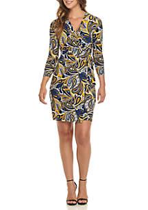 Paisley Classic Wrap Dress