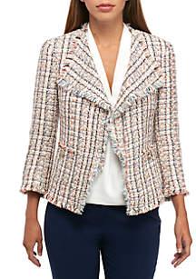 Americana Tweed Fringe Jacket