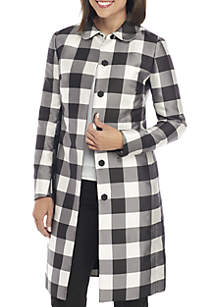 Checkered Long Coat