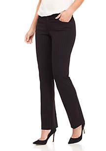 Pinstripe Flair Leg Compression Pants