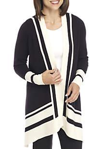Long Sleeve Colorblock Cardigan