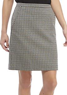 Houndstooth Ponte Skirt
