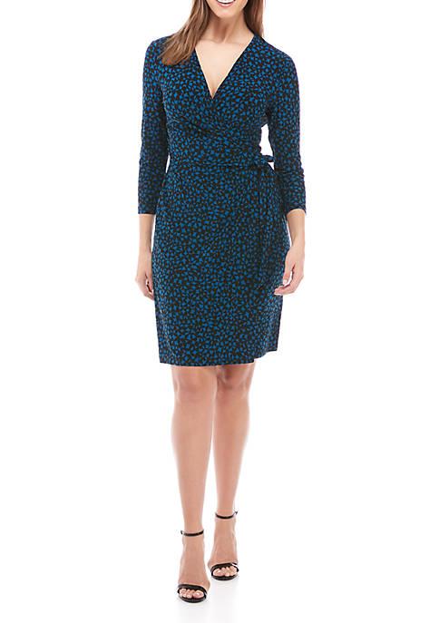 Anne Klein Print Draped Dress