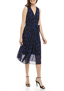Anne Klein Delphne Print Midi Dress