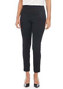 Pinstripe Compression Pants