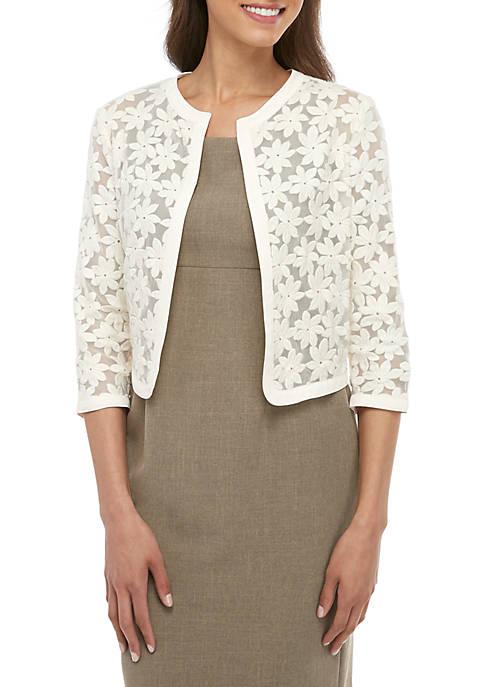Anne Klein Bonded Lace Cardigan