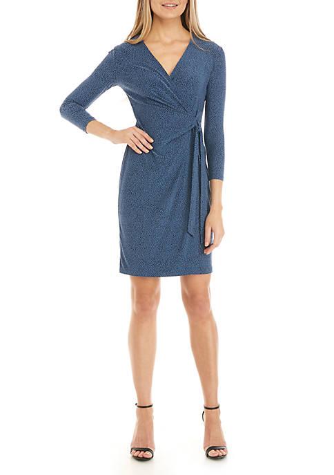 Anne Klein Robins Egg Faux Wrap Dress