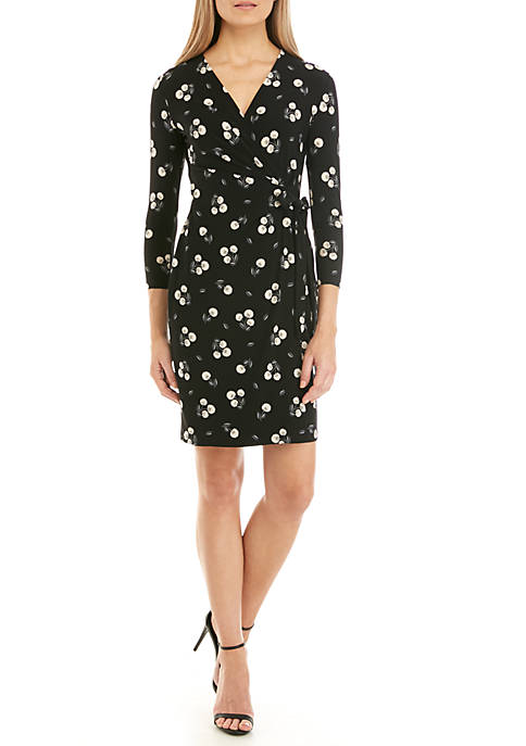 Anne Klein Floral Wrap Dress