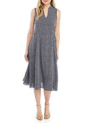 5c98bffa37636 Anne Klein Sleeveless Drawstring Midi Dress ...