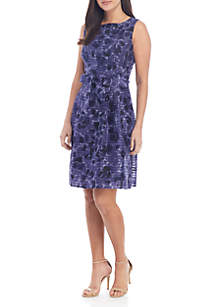Anne Klein Floral Fit and Flare Dress