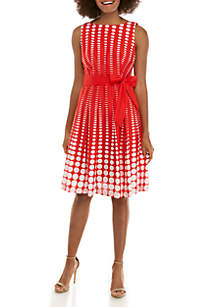 Anne Klein Octofade Fit and Flare Dress