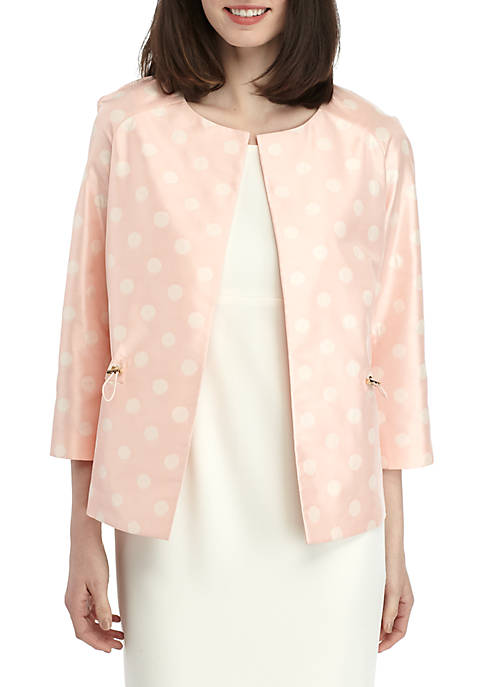 Anne Klein Ikat Dot Crop Jacket
