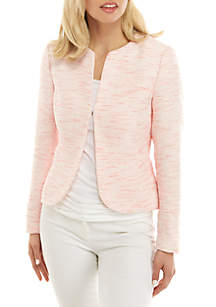 Anne Klein Tulip Hem Tweed Jacket