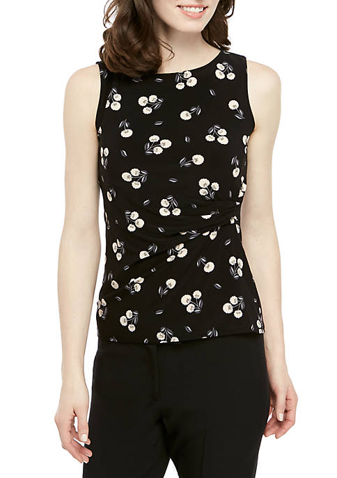 Anne Klein Sleeveless Floral ITY Top