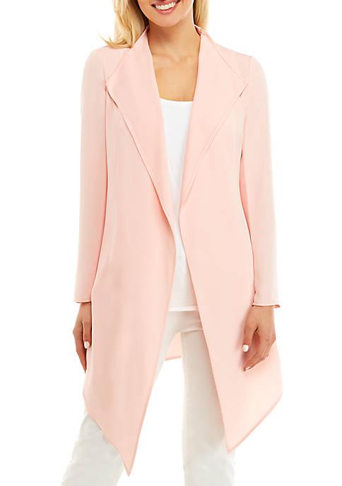 Anne Klein Long Sleeve Drape Front Jacket
