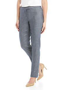 Anne Klein Linen Twill Extended Tab Pants