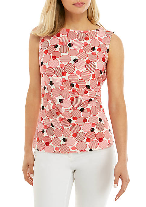 Anne Klein Malibu Dots Side Twist Top