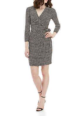 2cd5c8a27a7 Anne Klein Dot Ity Wrap Dress ...