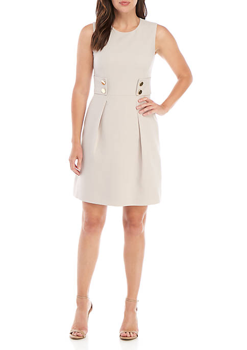 Anne Klein Side Tab Fit and Flare Dress