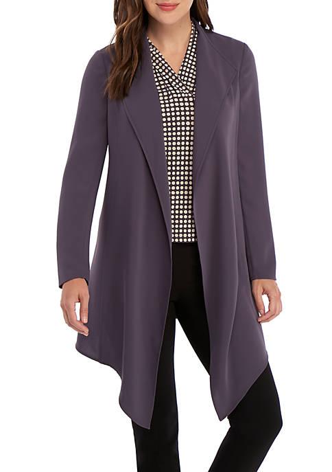 Anne Klein Drape Front Soft Jacket