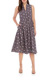 Anne Klein Drawstring Midi Dress