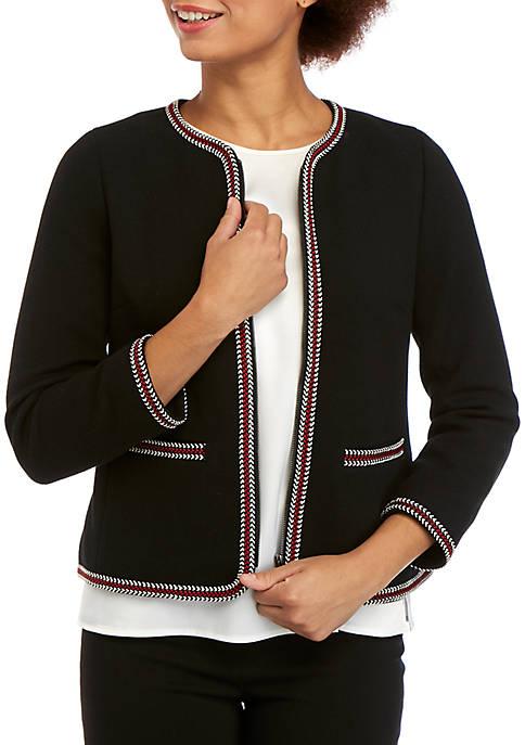Braid Trim Short Jacket