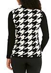 Houndstooth Turtleneck Sweater