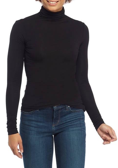 Womens Long Sleeve Jersey Turtleneck