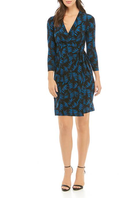 Anne Klein Womens Print Wrap Dress
