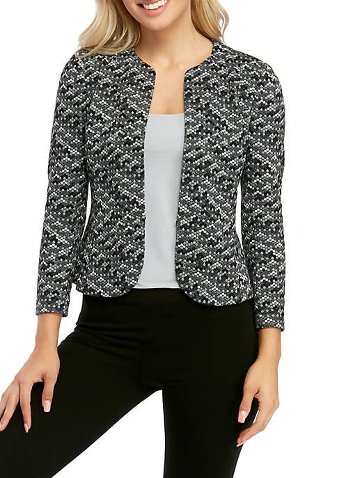 Womens Geo Print Tulip Front Jacket